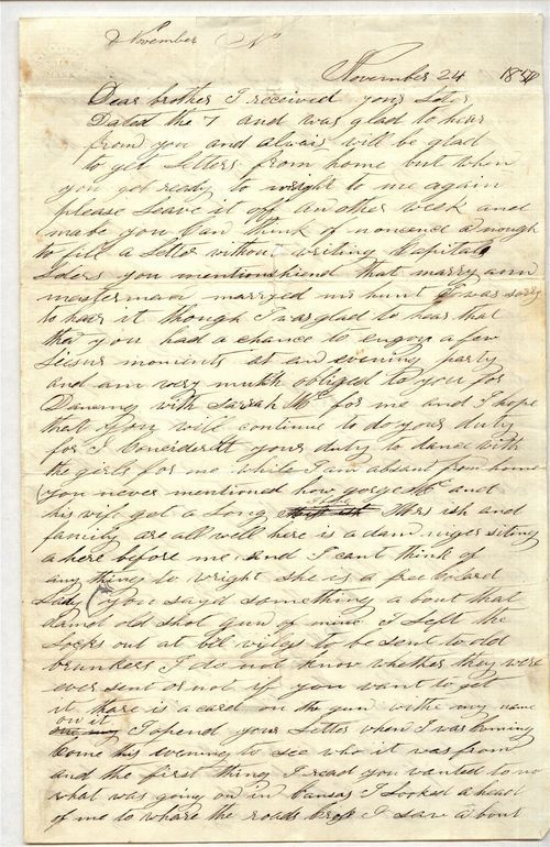 James Butler [Wild Bill] Hickok to Horace D. Hickok - Page