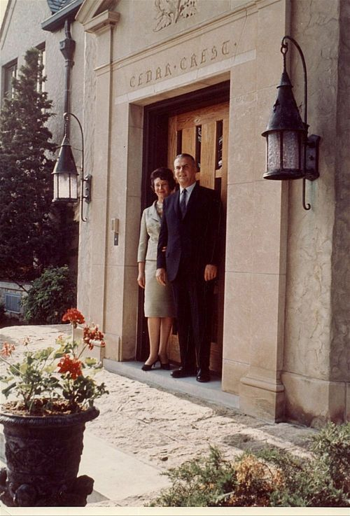 Governor and Mrs. William Henry Avery at Cedar Crest, Topeka, Kansas - Page