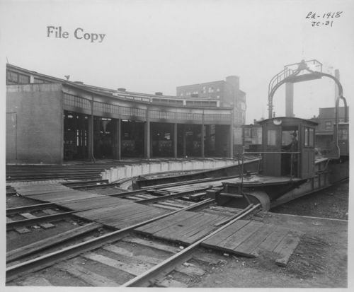 Atchison, Topeka & Santa Fe Railway roundhouse and turntable, Chicago, Illinois - Page