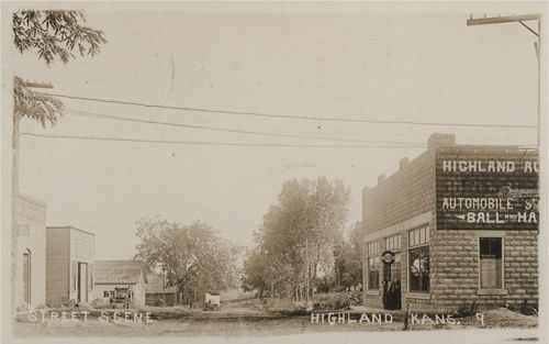 Business street, Highland, Kansas - Page