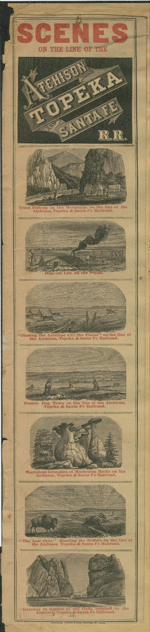 Scenes on the Line of the Atchison, Topeka and Santa Fe Railroad. - Page