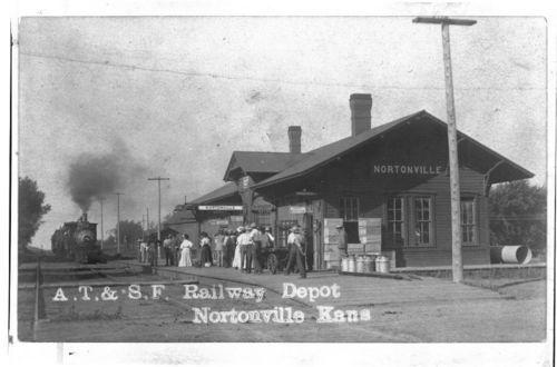 Atchison, Topeka & Santa Fe Railway Company depot, Nortonville, Kansas - Page