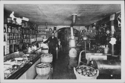 Photo of the photo of the interior of Al Nichols' General Store in Osborne,