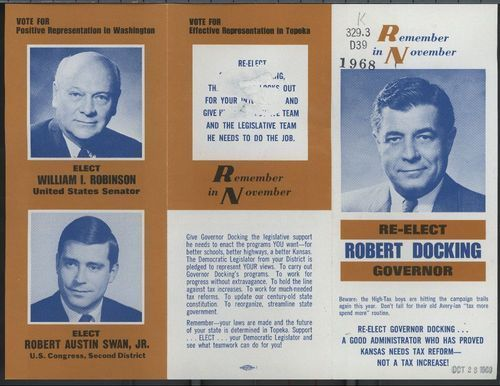Remember in November re-elect Robert Docking governor - Page