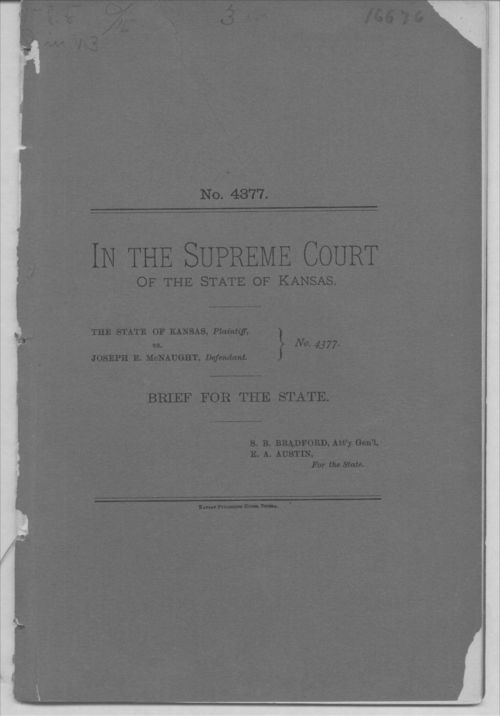 Brief for the State.  The State of Kansas versus Joseph E. McNaught - Page
