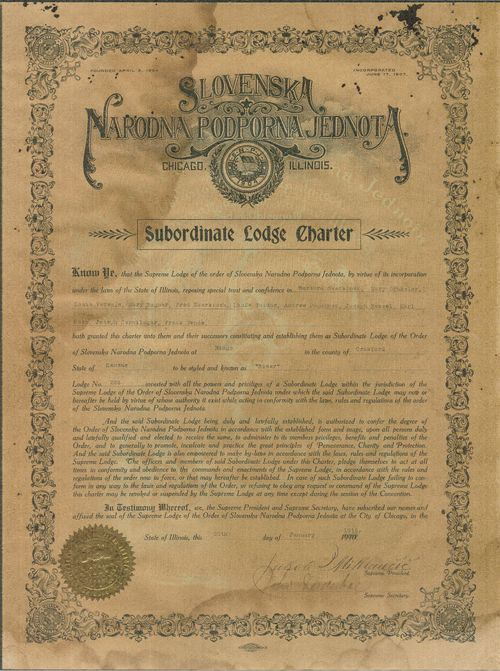 Slovene National Benefit Society, lodge no. 228, Ringo, Kansas - Page