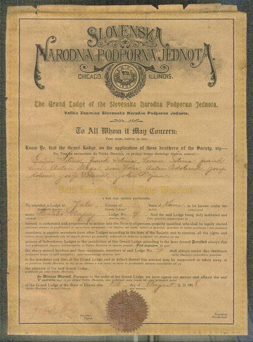Slovene National Benefit Society, lodge no. 9, Yale, Kansas - Page