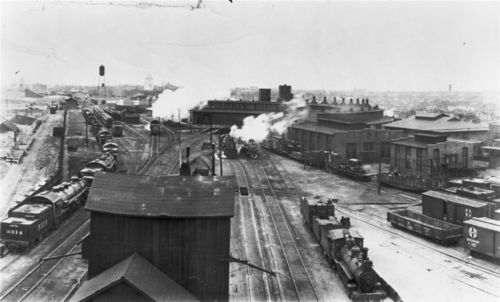 Atchison, Topeka & Santa Fe Railway shops and yard, Wellington, Kansas - Page