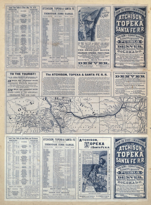 Atchison, Topeka and Santa Fe Railroad Timetables - Page