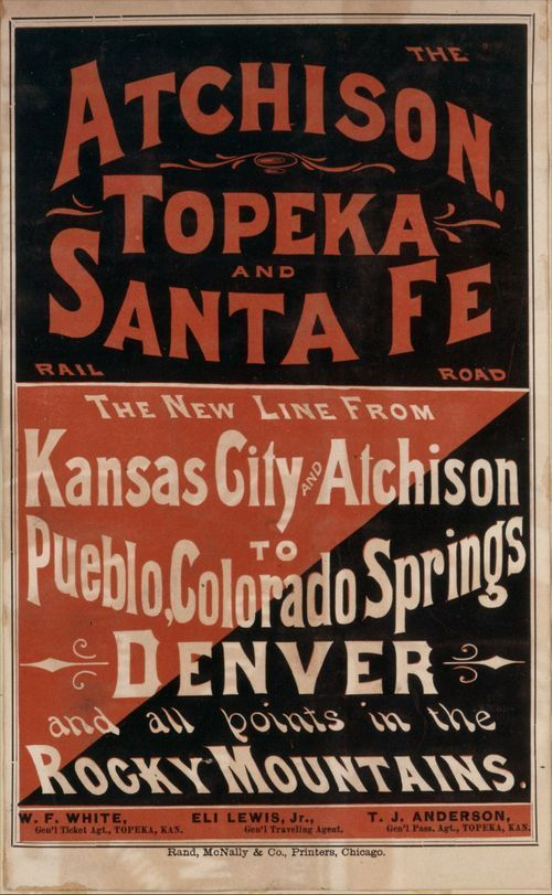 The new line from Kansas City and Atchison to Pueblo, Colorado Springs, Denver - Page