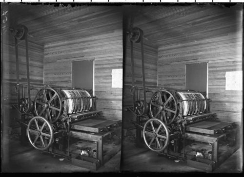 Russell Record printing press, Russell, Kansas - Page