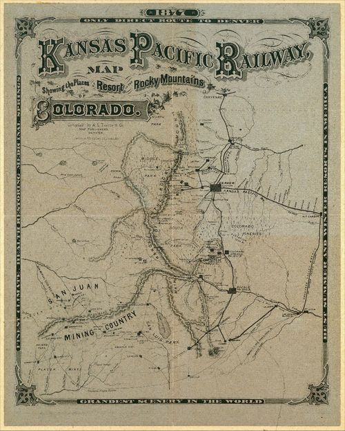 Kansas Pacific Railway map of Colorado - Page