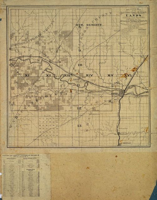 Sectional Map, Pottawattomie Reserve Lands - Page