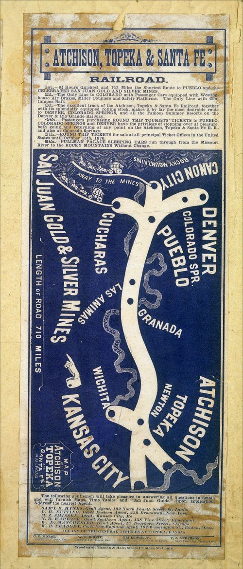 Map of the Atchison, Topeka & Santa Fe Railroad - Page