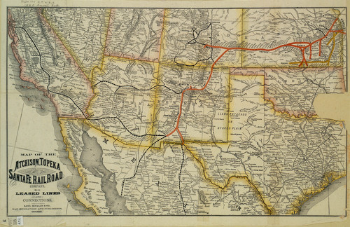 Map of the Atchison, Topeka & Santa Fe Railroad Company - Page