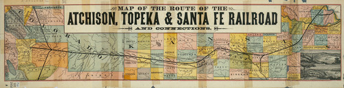 Map of the Atchison, Topeka & Santa Fe Railroad and connections - Page