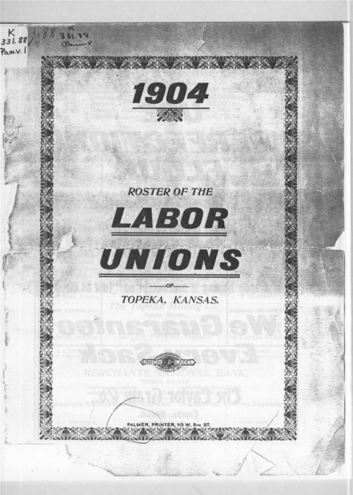 Roster of the labor unions - Page