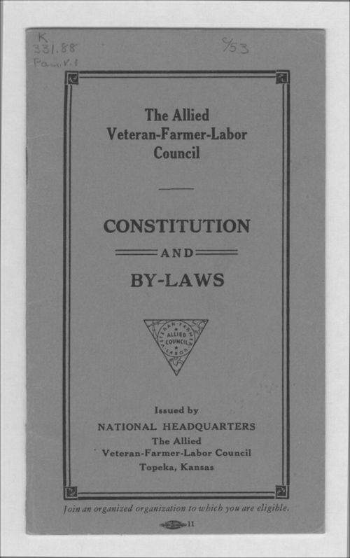 The Allied Veteran-Farmer-Labor Council - Page