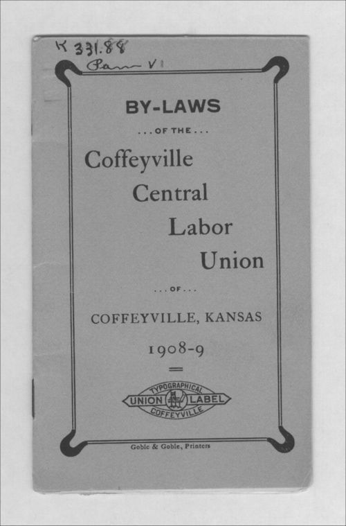 By-laws of the Coffeyville Central Labor Union - Page