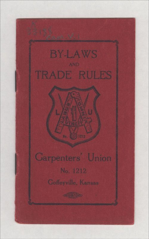 By-laws and trade rules of Carpenter's Union No. 1212 - Page