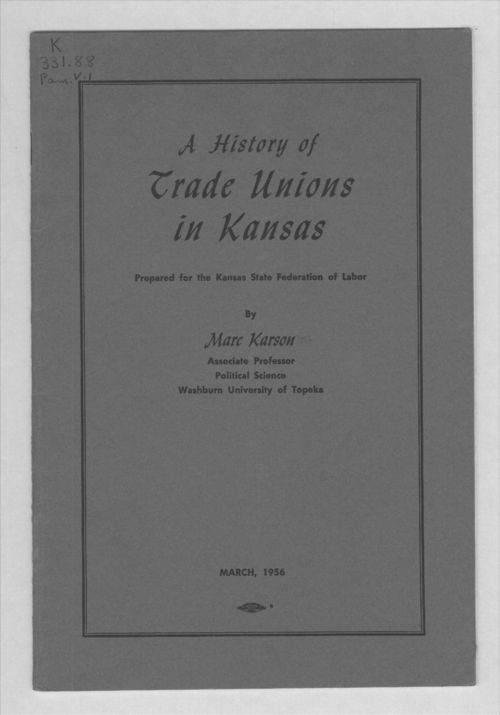 A history of trade unions in Kansas - Page