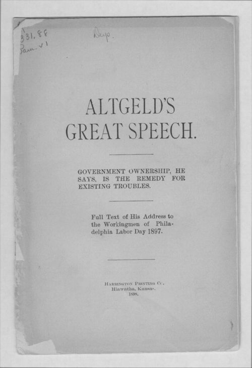Altgeld's great speech - Page