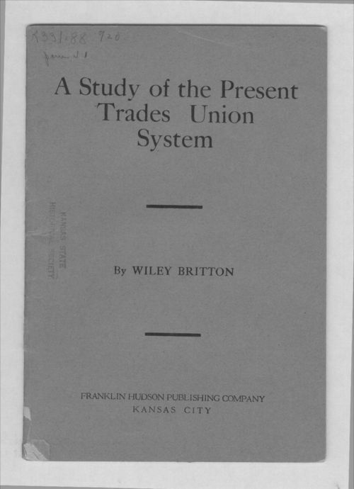 A study of the present trades union system - Page