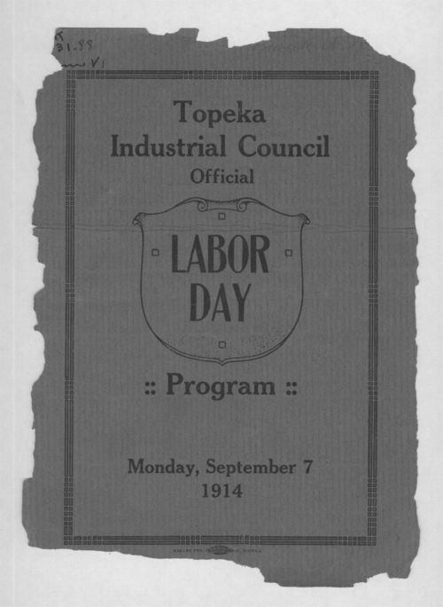 Topeka Industrial Council official Labor Day program - Page