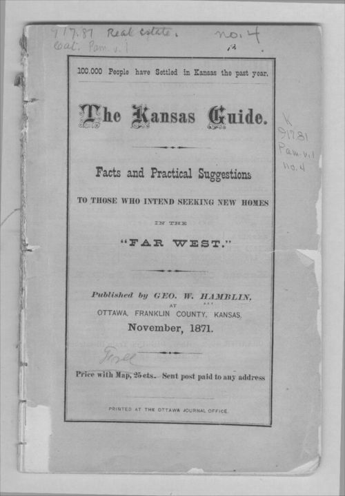 "The Kansas guide. Facts and practical suggestions to those who intend seeking new homes in the ""far west"" - Page"