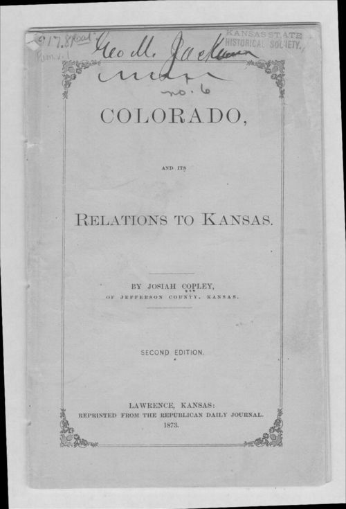 Colorado, and its relations to Kansas - Page