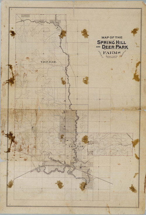 Map of the Spring Hill and Deer Creek Farms, Strong City, Kansas - Page