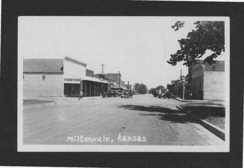 Street scene, Miltonvale, Kansas - Page