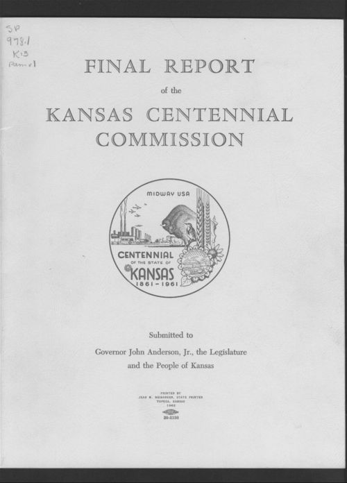 Final report of the Kansas Centennial Commission - Page