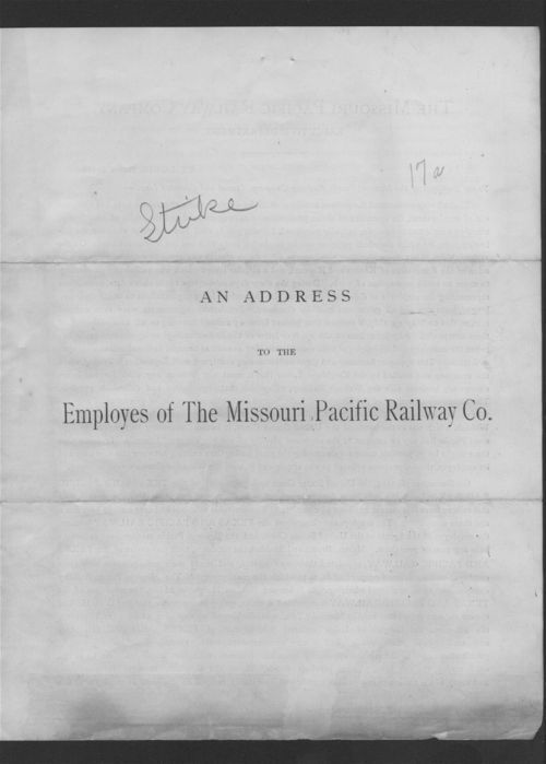 An address to the employees of the Missouri Pacific Railway Co. - Page