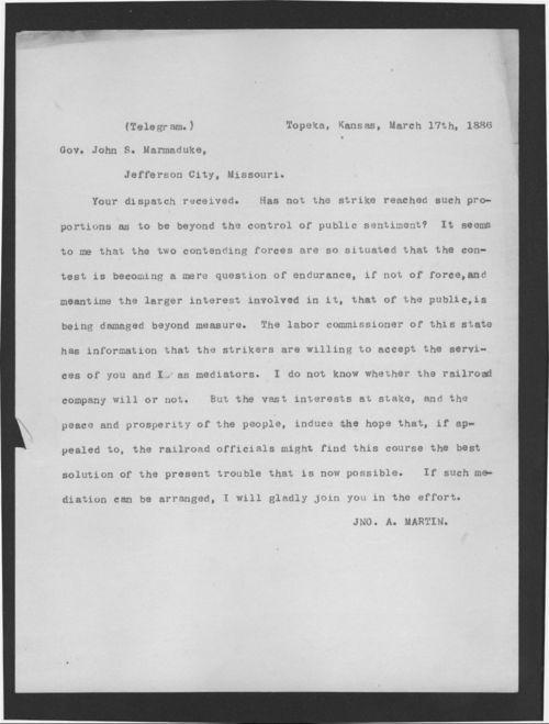 Governor John Martin to Governor John Marmaduke - Page