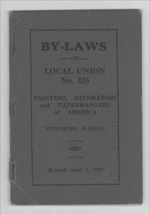 By-laws of local union no. 326 painters, decorators and paperhangers of America - Page