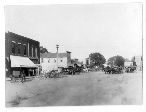 Street scene, Little River, Kansas - Page
