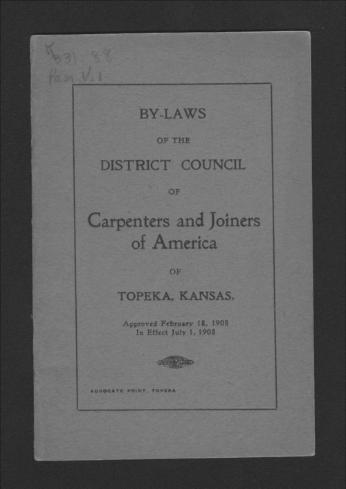 By-laws of the District Council of Carpenters and Joiners of America - Page