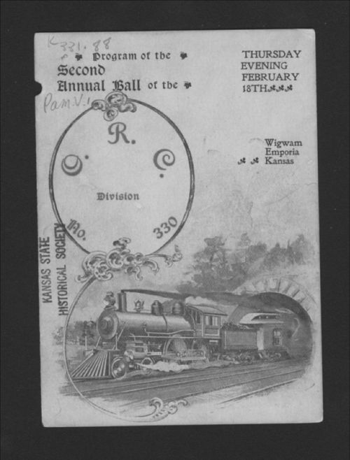 Program of the second annual ball of the Order of Railroad Conductors, Division No. 330, Emporia, Kansas - Page