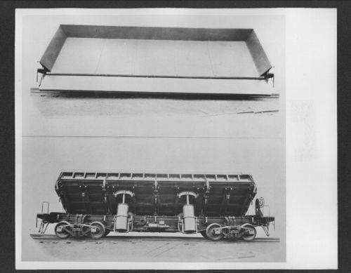 Atchison, Topeka & Santa Fe Railway's side dump car no. 185599 - Page
