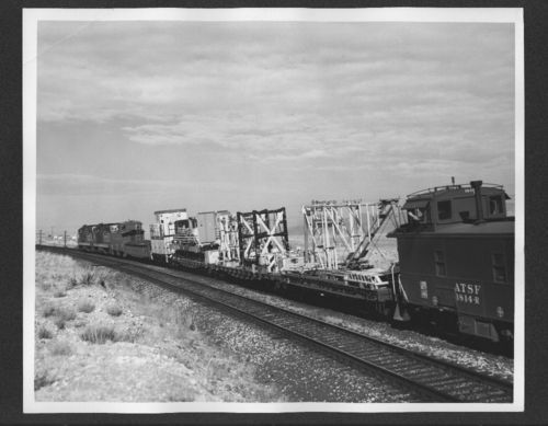 Atchison, Topeka and Santa Fe Railway aero jet special train, Hackberry, Arizona - Page
