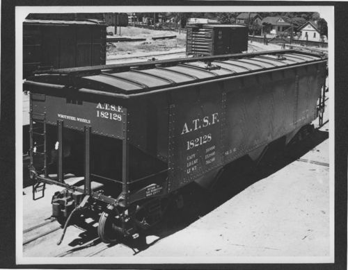 Atchison, Topeka & Santa Fe Railway hopper car, Topeka, Kansas - Page