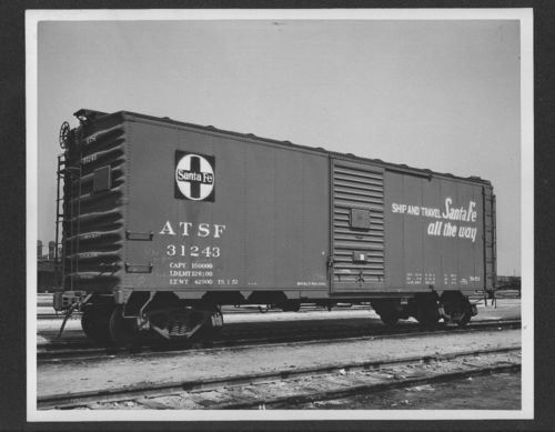 Atchison, Topeka & Santa Fe Railway Company's box car no. 31243 - Page