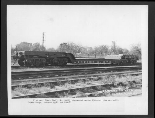 Atchison, Topeka & Santa Fe Railway flat car - Page