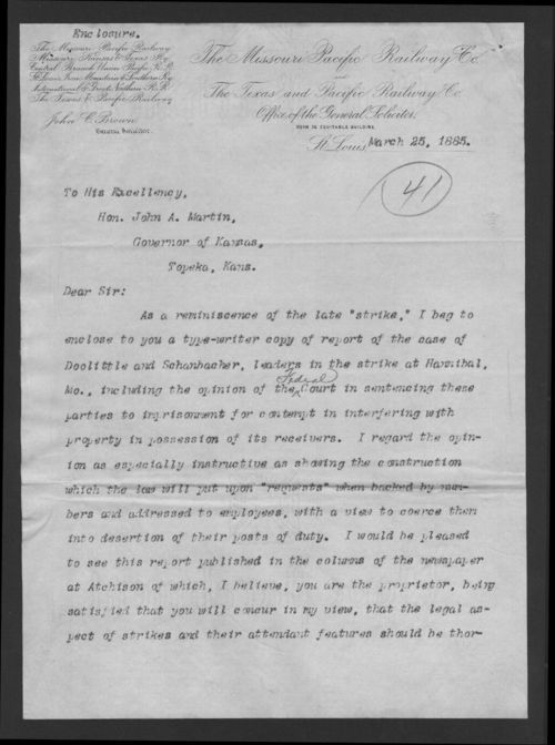 Report of the case of Doolittle and Schanbacher railroad strike 1885 - Page