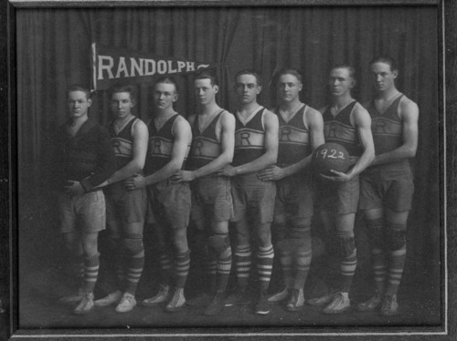 Randolph High School boy's basketball team, Randolph, Kansas - Page