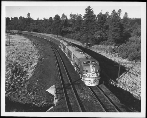 Atchison, Topeka & Santa Fe Railway Company's Super Chief, Flagstaff, Arizona - Page
