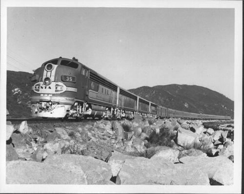 Atchison, Topeka & Santa Fe Railway Company's Super Chief ,Cajon Pass, California - Page