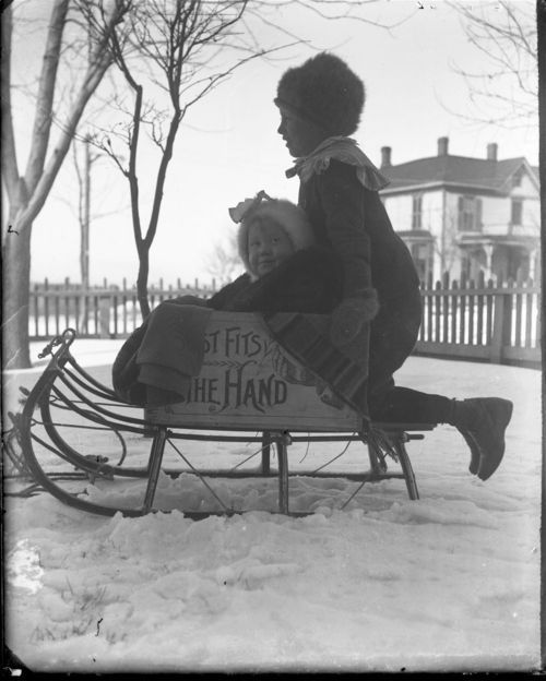 Wentworth children sledding - Page