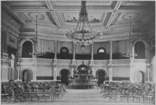 Photograph of Kansas House of Representatives chamber, 1899